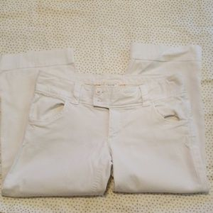 American eagle outfitters stretch white capris